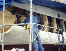 New starboard aft planks