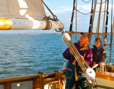 Well set Foresail